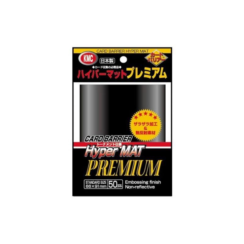 50 Kmc Hyper Mat Premium Black Sleeves Matt Schwarz