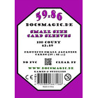 100 Docsmagic.de Small Size Card Sleeves Clear - 59 x 86...