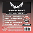 50 Mayday 80 x 80 Square Premium Card Sleeves Board Game...