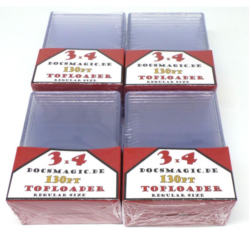 """Standard Size 70 x 3/"""" x 4/"""" 4 x 10 Docsmagic.de Toploader Extra Thick 130pt"""